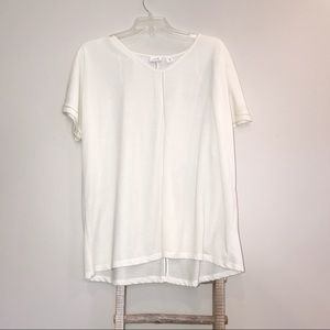 Jaclyn Smith White Short Sleeve Top